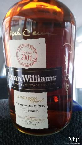 Signed by Master Distillers Craig Beam and Denny Potter of Heaven Hill and Artisanal Distiller Charlie Downs of the Evan Williams Experience