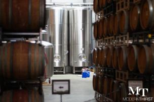 Barrel aging sours at the Funkatorium, by Wicked Weed