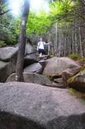 Entering the boulder field