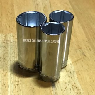 Craftsman 3/8-Inch Drive 6 Point Deep Sockets MM / Inch
