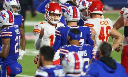 Even Patrick Mahomes laughed at Josh Allen's called back touchdowns