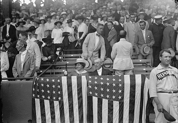 President Woodrow Wilson at the 1917 game, with the First Lady