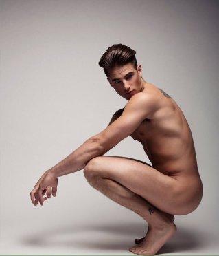 Male body art