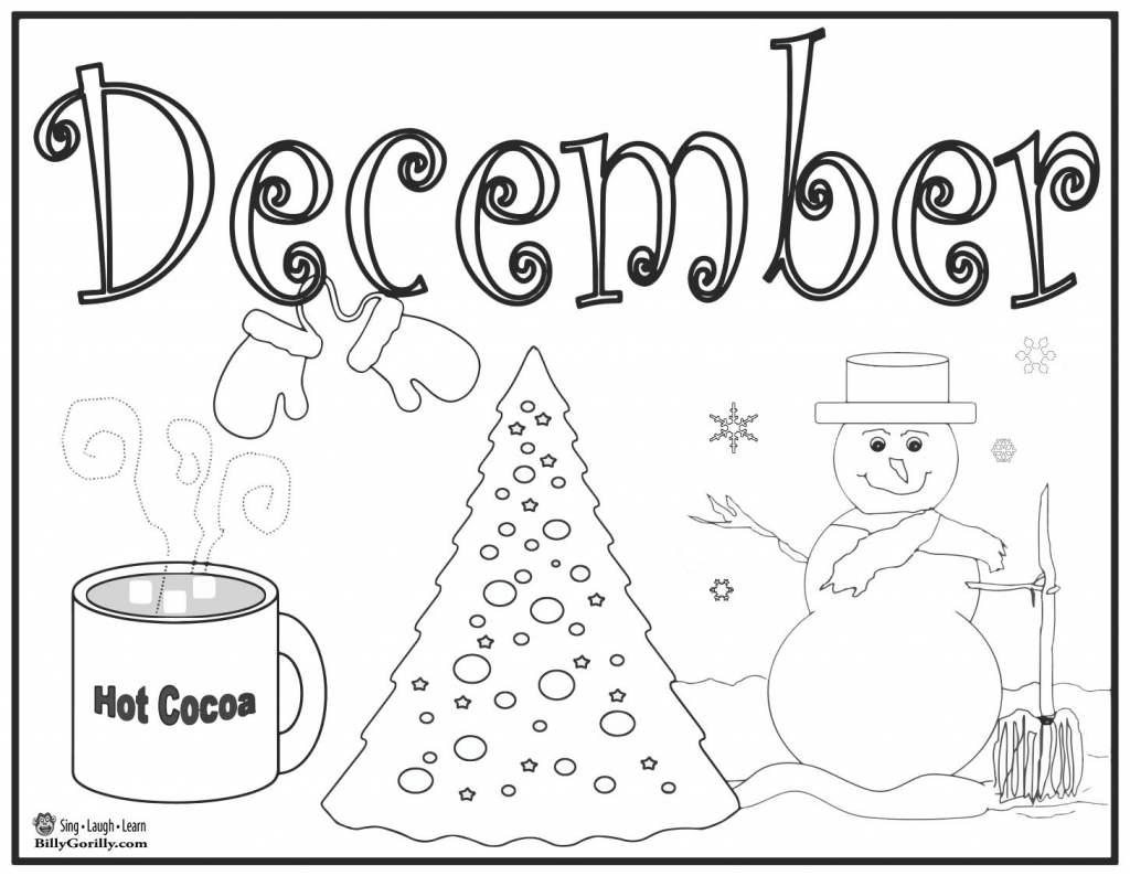 15 Winter Holiday Coloring Pages For Kids