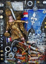 St. Jeanne d'Arc (detail) by Billy Hedel 2017