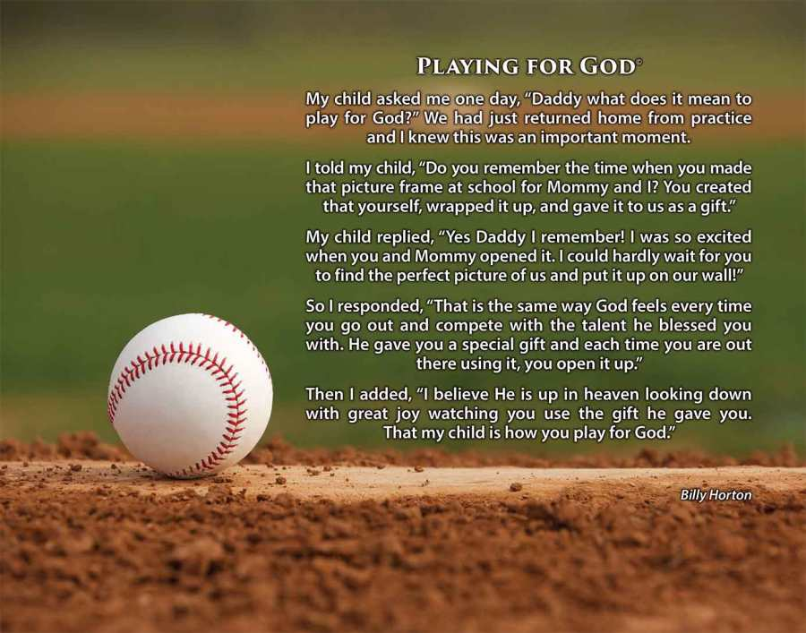 Playing for God Baseball Image