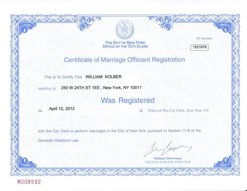 How to Register as a Marriage Officiant.