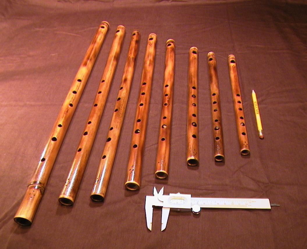 Handmade flutes by Wm. Miller