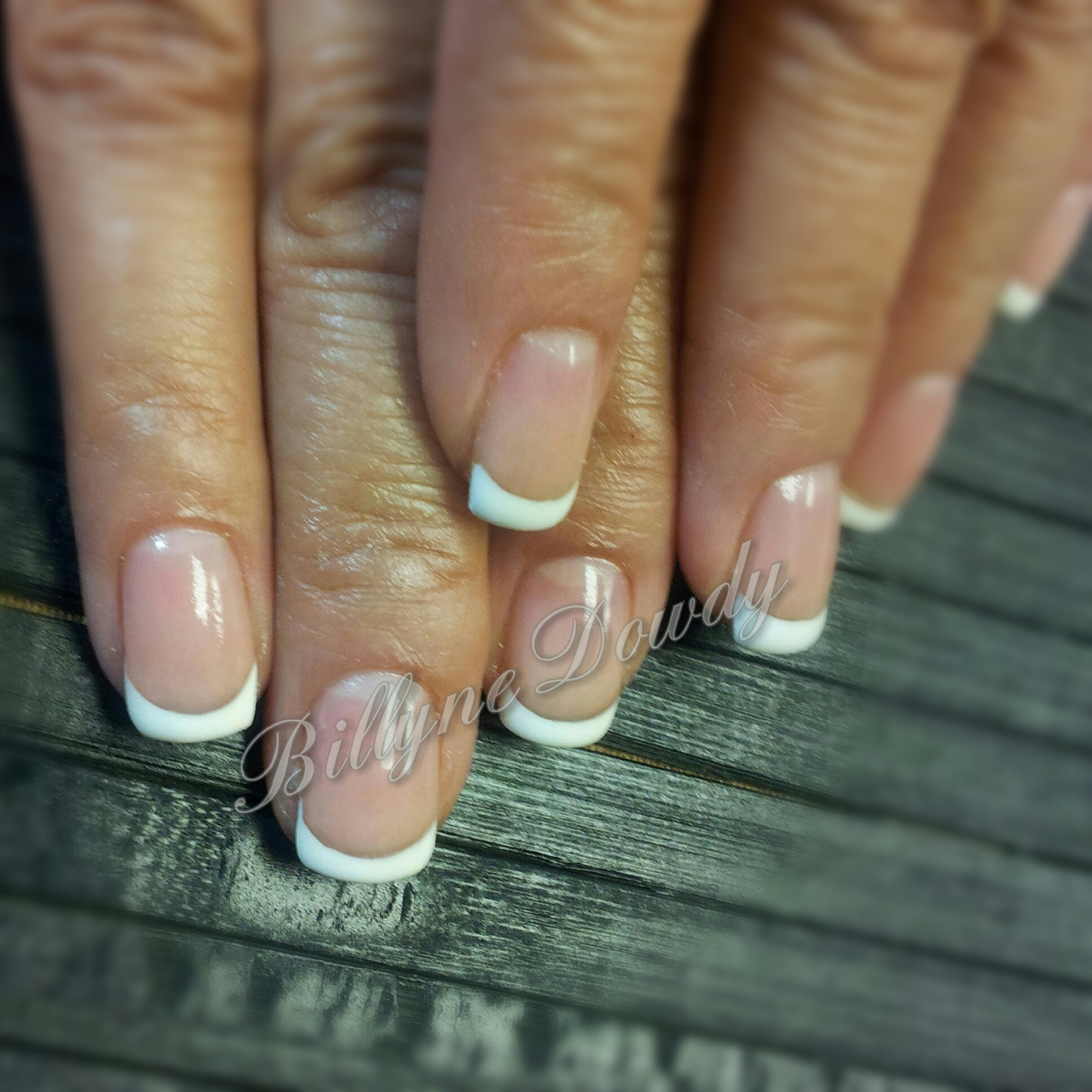 French Manicure On Natural Nails Billyne S Nail Lash Studio