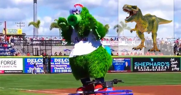 New look proves it: The Phillie Phanatic is a modern dinosaur