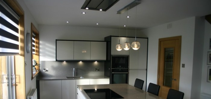 image for Kitchen Design, Supply And Installation Of The Pronto Lacarre Gloss Grey  range. By Billy Walker Joinery Services Ltd, Fraserburgh, Aberdeenshire.