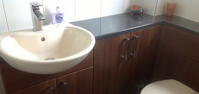 image for Bathroom Design, Supply And Installation Of The Walnut  range. By Billy Walker Joinery Services Ltd, Fraserburgh, Aberdeenshire.