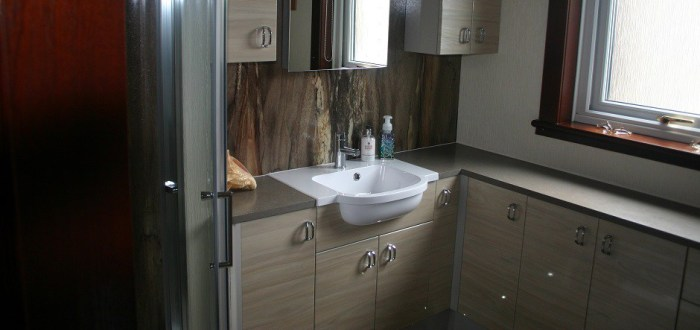 image for Bathroom Design, Supply And Installation Of The Eco Urban Elm  range. By Billy Walker Joinery Services Ltd, Fraserburgh, Aberdeenshire.