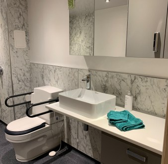 image for Bathroom Design, Supply And Installation Of The Disability Shower Room 1. By Billy Walker Joinery Services Ltd, Fraserburgh, Aberdeenshire.