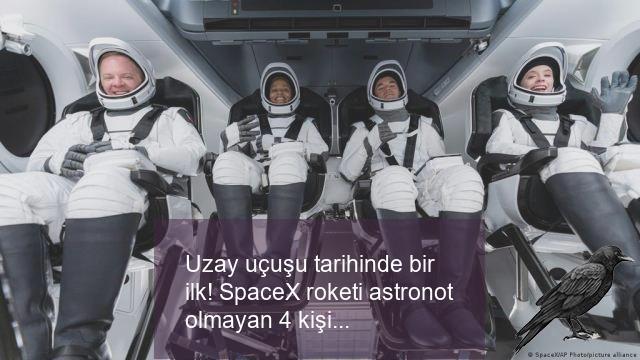 uzay ucusu tarihinde bir ilk spacex roketi astronot olmayan 4 kisiyi dunyanin cevresinde 3 gun gezdirecek 0 evzwbjld