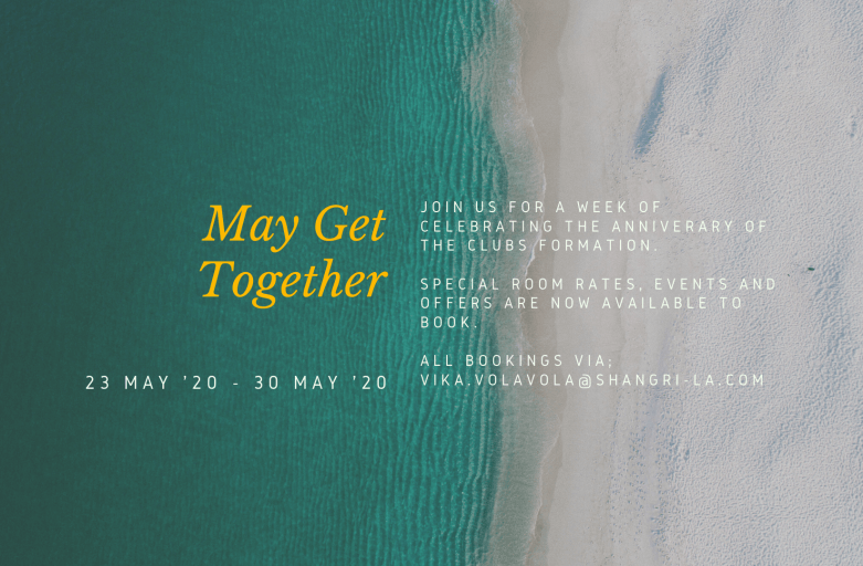 May Get Together – Dates & Rates