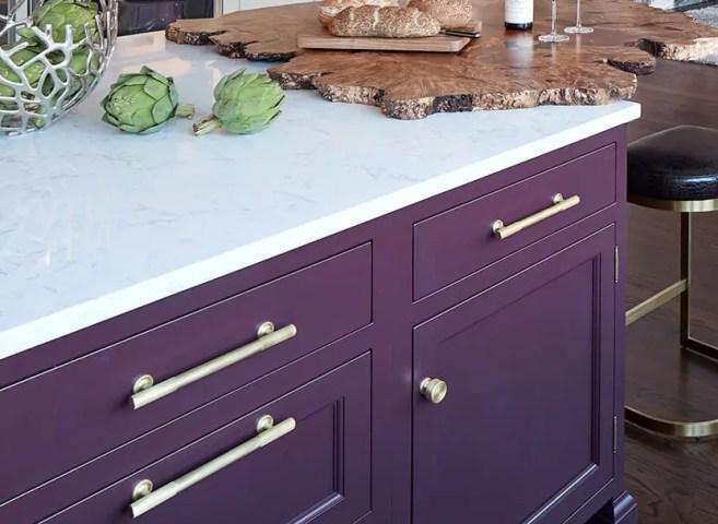 Eggplant Purple Bilotta Cabinetry