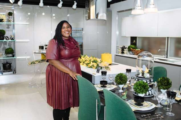 Jacquelyn Moore-Hill of Jacquelyn Moore Hill Interior Design in her Art of the Table kitchen