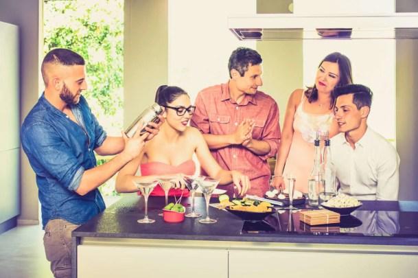 Gathering around the kitchen island