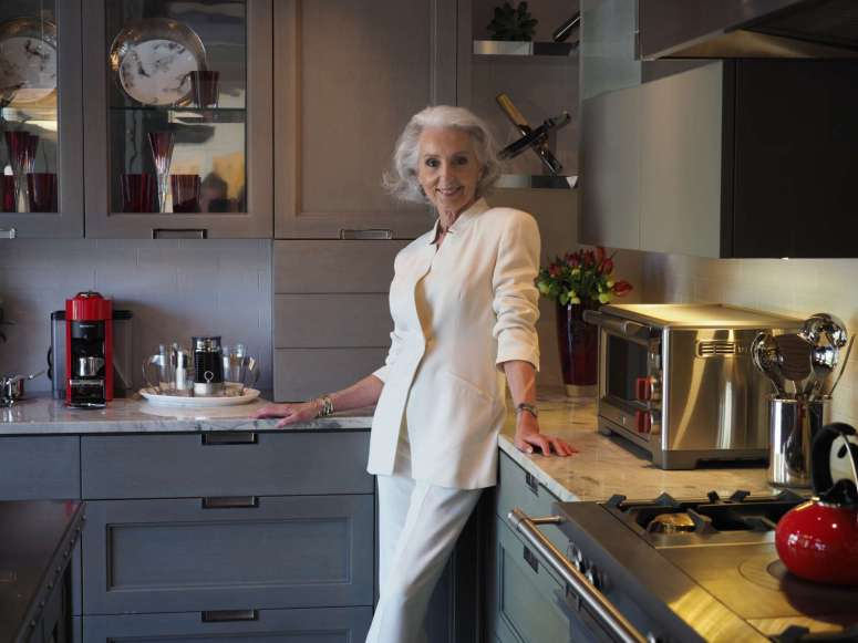 Anne Joyce in her Art of the Table Kitchen