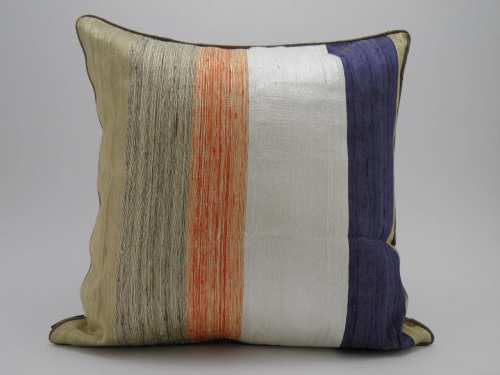 Bayadere Raw Silk Cushion Cover