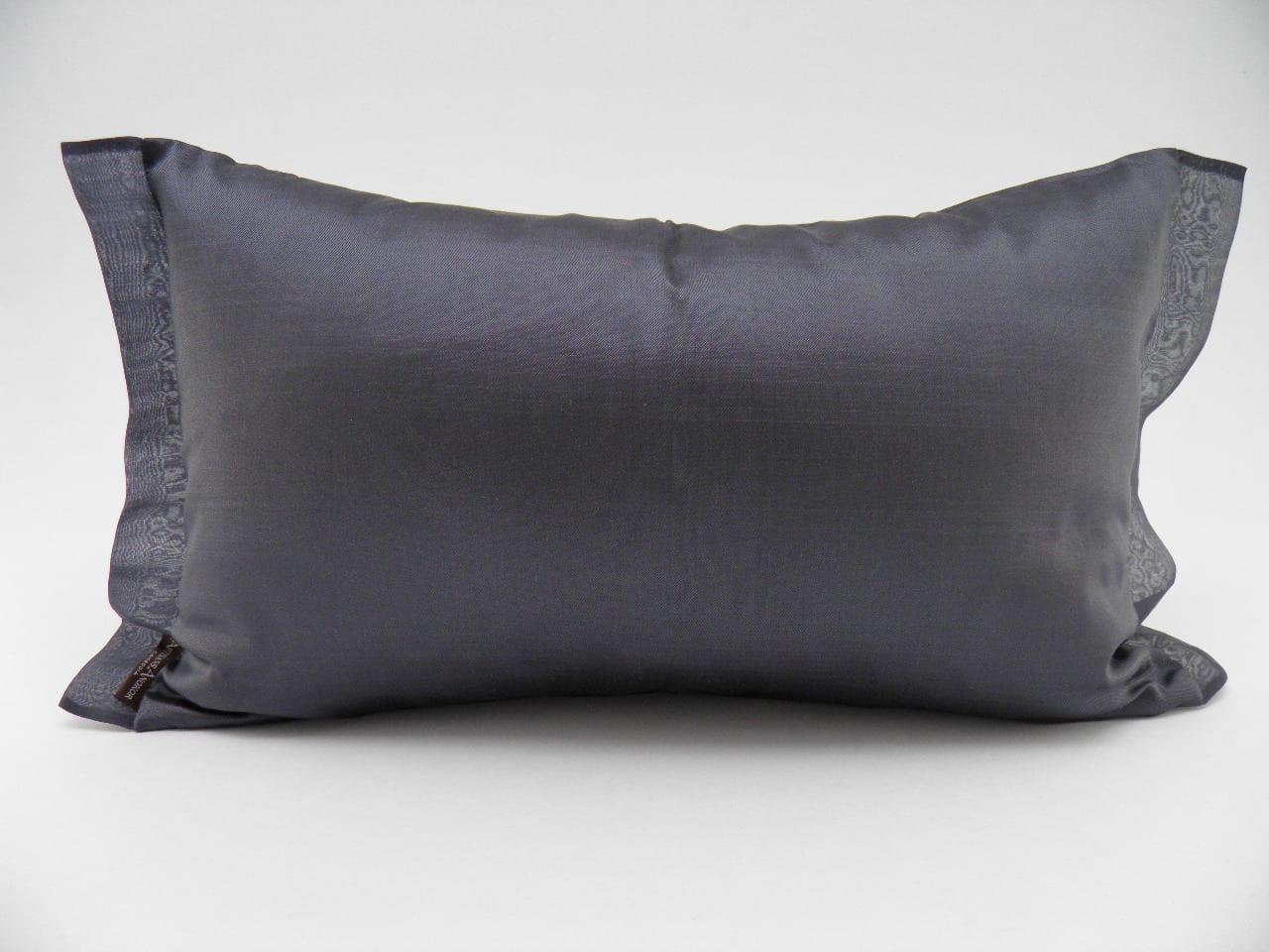 Coussin Organza - Gris foncé - 45x27cm
