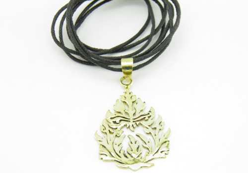 Traditional Pattern  – Pendant Recycled Brass