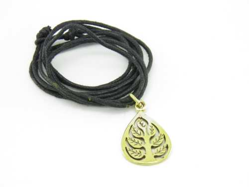 Buddha Leaf Pendant – Recycled Brass