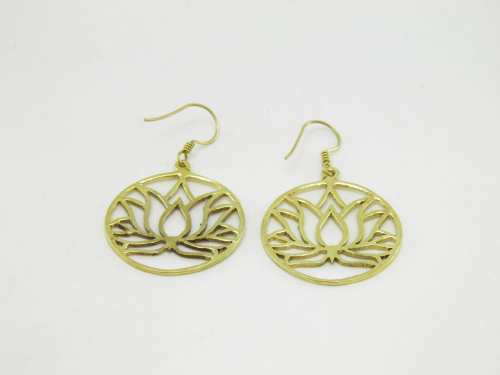 Earrings Lotus – Recycled Brass