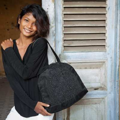 Angular - Eco-friendly Shoulder Bag - Black