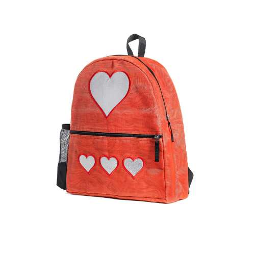 Aster - Ethical Backpack - Heart - Small - Red