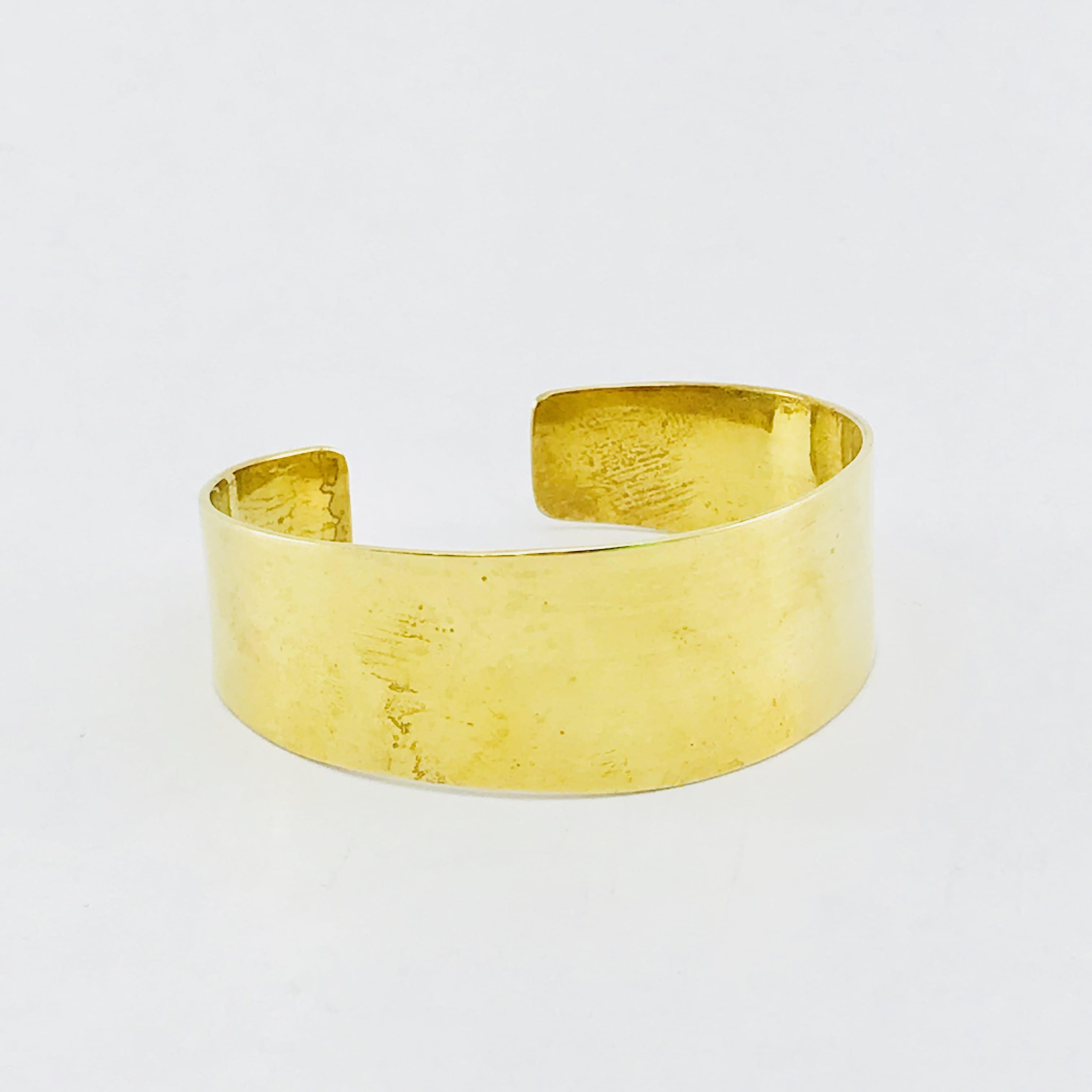 Le Bracelet uni - laiton recyclé