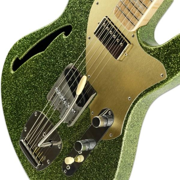 Body Detail, Lime Green Sparkle ESG