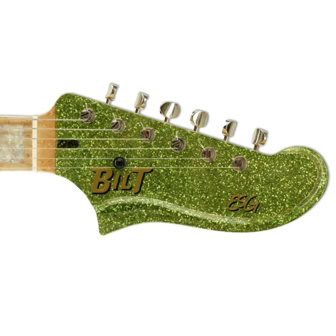 Headstock, Lime Green Sparkle ESG