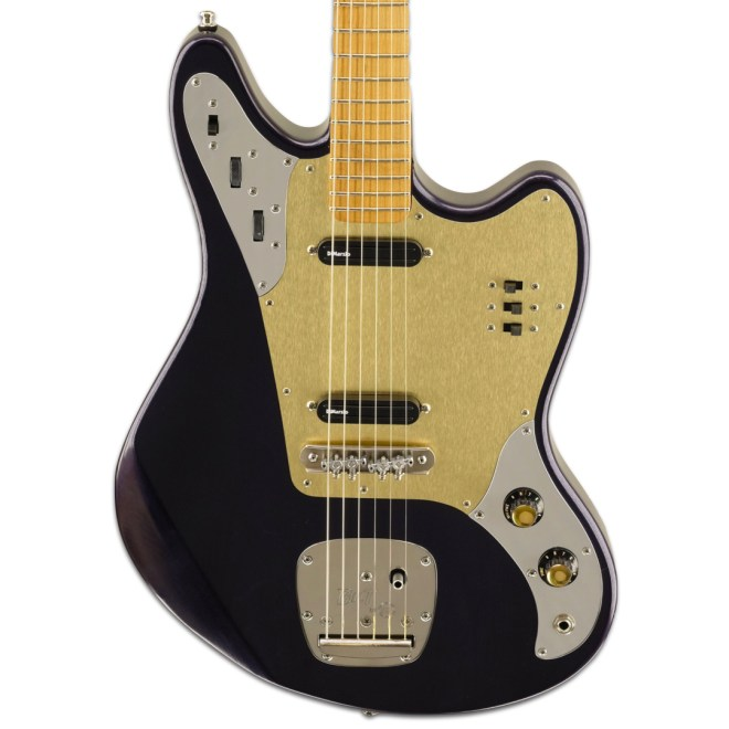 Purple Relevator LS, Gold Aluminum Pickguard