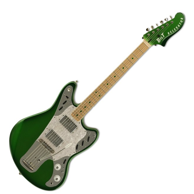 Candy Apple Green Metallic Burst Relevator + Effects, Full Image