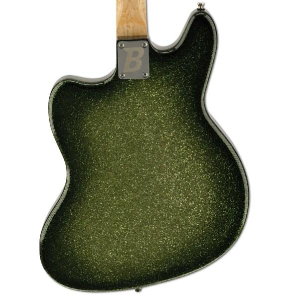 Back Detail, Green Sparkle Burst Zaftig