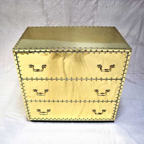 BRASS DRESSER with 3 drawers