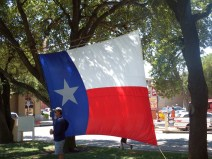 Fort Worth - Stockyards Area - Texas Flag
