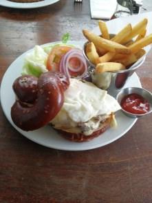 3 Square Cafe - Rockenwagner Pretzel Burger