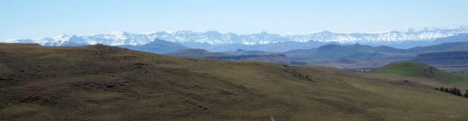 On the way to Drakensberg - Snow!