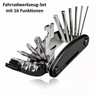 Fahrradwerkzeug Set, Fahrrad Reparaturset, Multitool Werkzeug Set 16-teilig