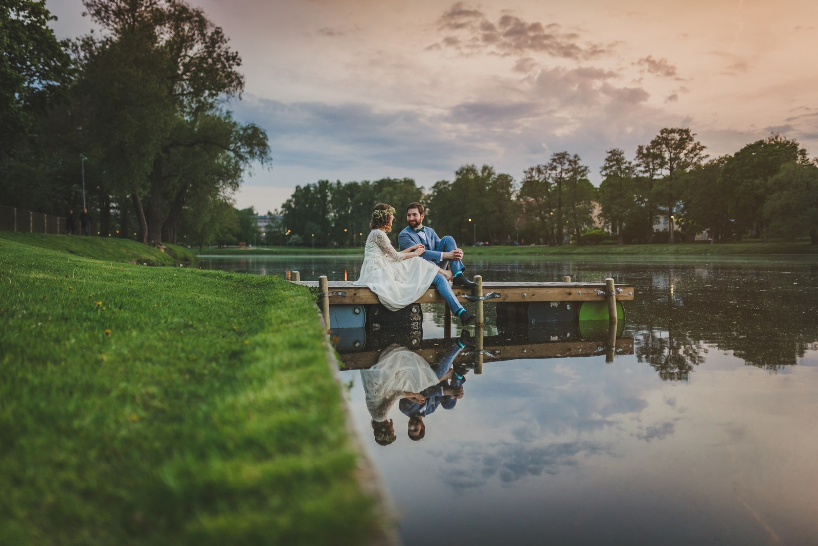 āgenskalns sunset wedding photoshoot