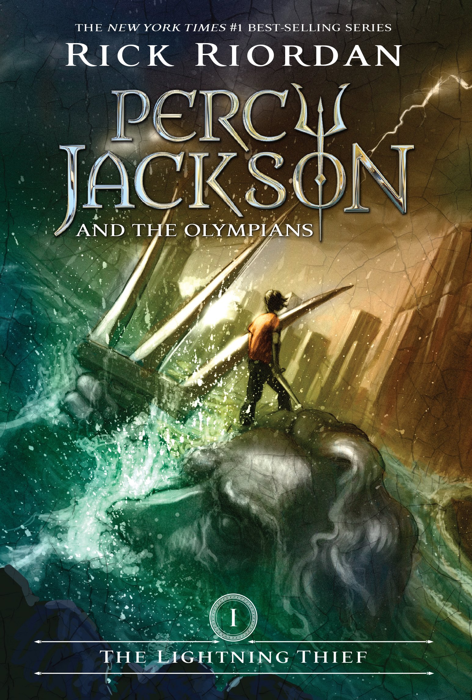 Percy Jackson and the Olympians: The Lightning Thief by Rick Riordan (Cover)