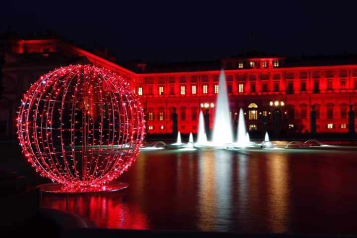 Villa Reale illuminata