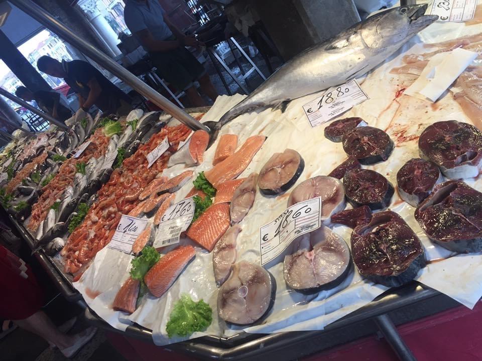 Il mercato del pesce a Venezia
