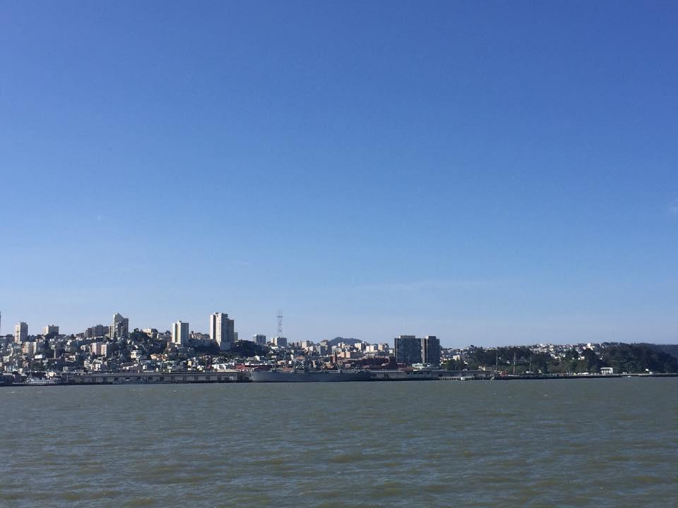San Francisco vista da Alcatraz