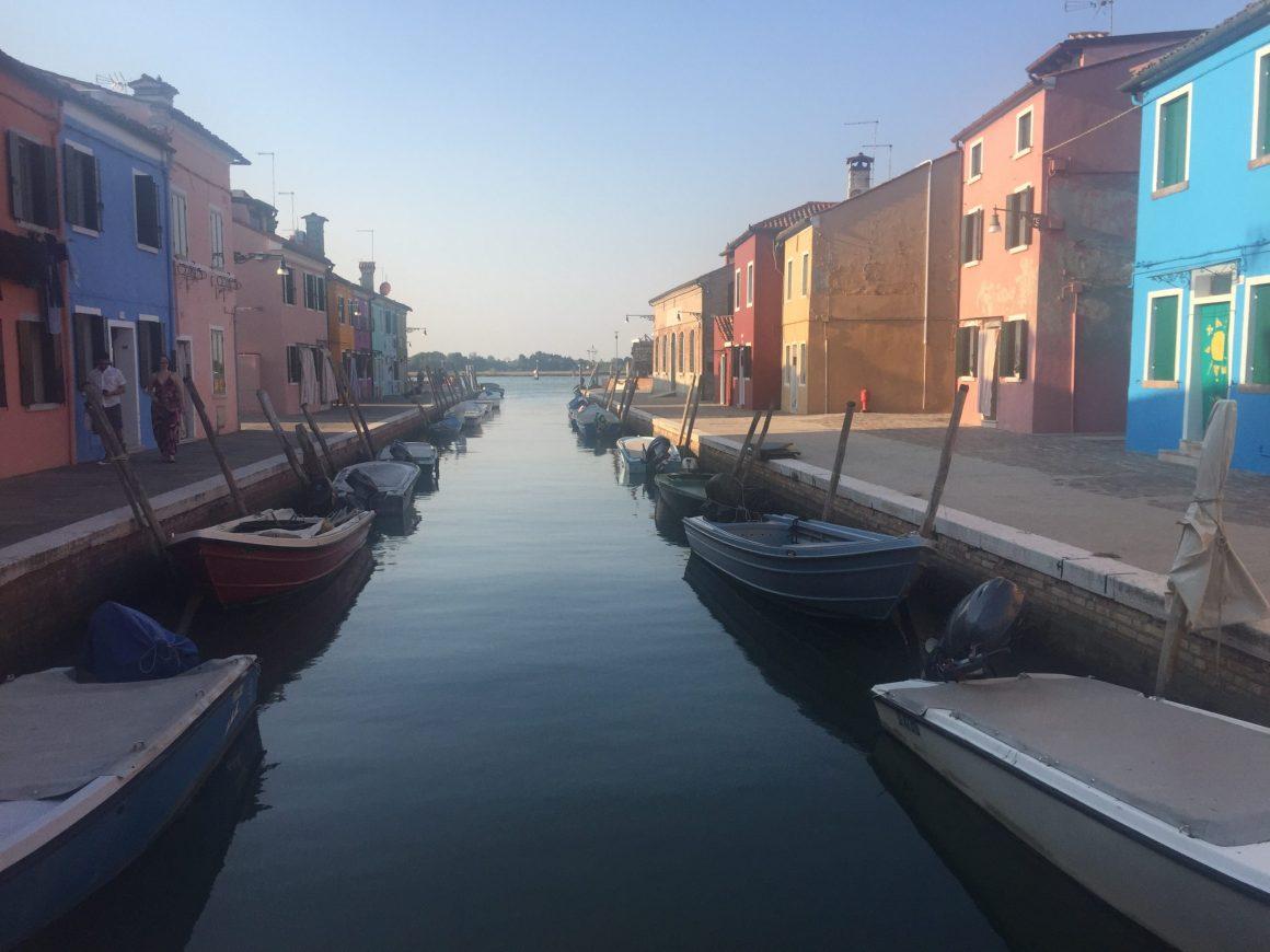 Burano: le barche ormgeggiate