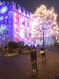 Piazza Duomo a Trento di notte