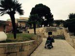 Michele nel giardino della Cittadella dei Musei.